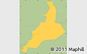 Savanna Style Simple Map of Santa Lucia, single color outside