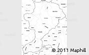 Blank Simple Map of Intibuca