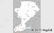 Gray Simple Map of Intibuca