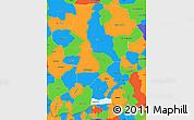 Political Simple Map of Intibuca