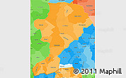 Political Shades Simple Map of Intibuca