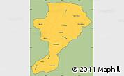 Savanna Style Simple Map of Intibuca, cropped outside