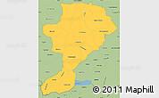 Savanna Style Simple Map of Intibuca