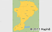 Savanna Style Simple Map of Intibuca, single color outside
