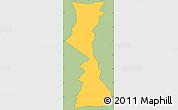 Savanna Style Simple Map of Yamaranguila, cropped outside