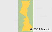 Savanna Style Simple Map of Yamaranguila