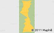 Savanna Style Simple Map of Yamaranguila, single color outside