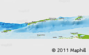 Physical Panoramic Map of Islas de Bahia