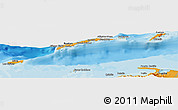 Political Shades Panoramic Map of Islas de Bahia
