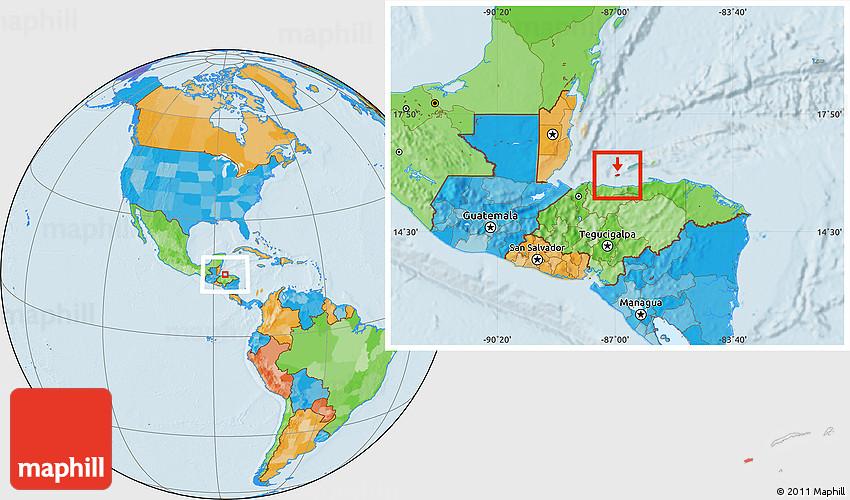 political location map of utila