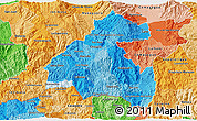Political Shades 3D Map of La Paz