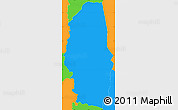 Political Simple Map of Aguanqueterique