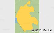 Savanna Style Simple Map of Cabanas