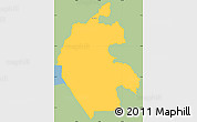 Savanna Style Simple Map of Cabanas, single color outside