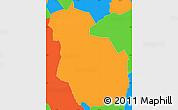 Political Simple Map of Guajiquiro