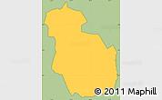 Savanna Style Simple Map of Guajiquiro, cropped outside