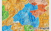 Political Shades Map of La Paz