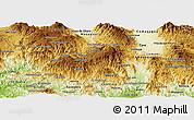 Physical Panoramic Map of La Paz