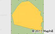 Savanna Style Simple Map of Candelaria, cropped outside
