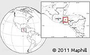 Blank Location Map of Gracias