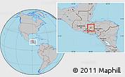 Gray Location Map of Gracias