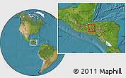 Satellite Location Map of Gracias