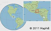 Savanna Style Location Map of Gracias