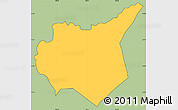 Savanna Style Simple Map of Mapulaca, cropped outside