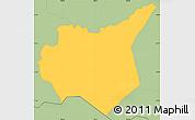 Savanna Style Simple Map of Mapulaca