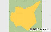 Savanna Style Simple Map of Mapulaca, single color outside