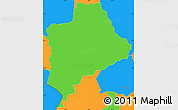 Political Simple Map of Piraera