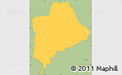 Savanna Style Simple Map of Piraera