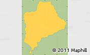 Savanna Style Simple Map of Piraera, single color outside