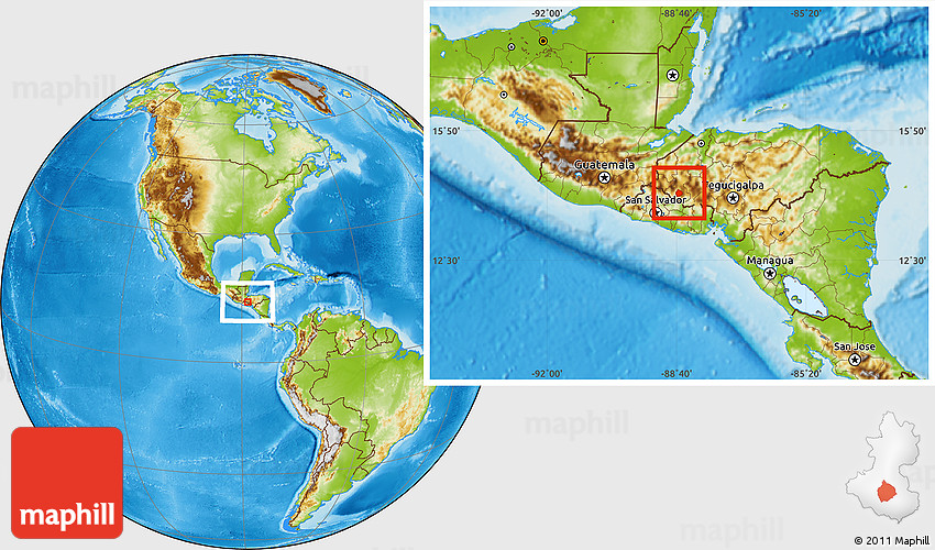 Physical Location Map Of San Andres