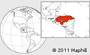 Blank Location Map of Honduras