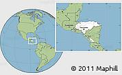 Blank Location Map of Honduras, savanna style outside