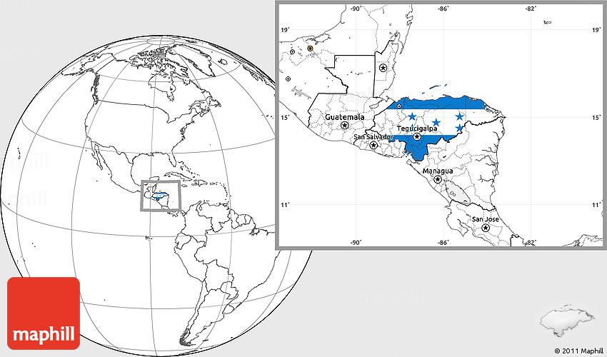 Flag location map of honduras blank outside 2d gumiabroncs Images