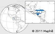 Flag Location Map of Honduras, blank outside