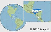 Flag Location Map of Honduras, savanna style outside
