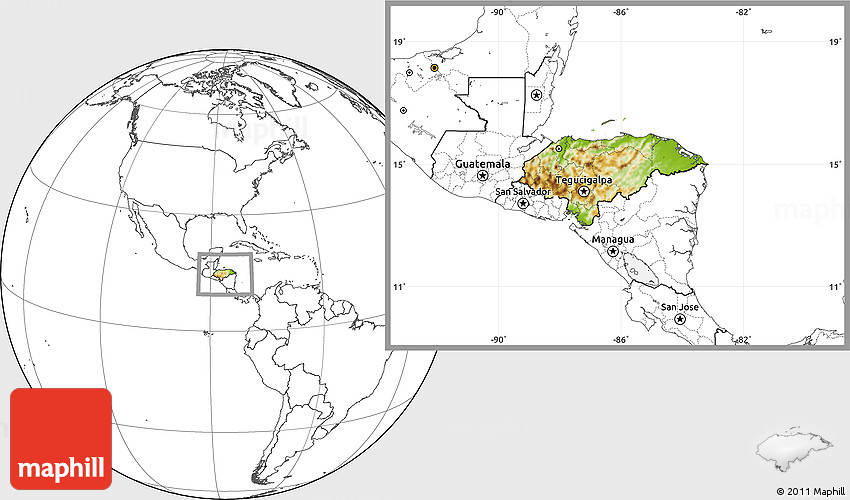 Physical location map of honduras blank outside 2d gumiabroncs Images
