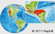 Physical Location Map of Honduras