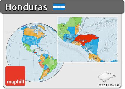 Free political location map of honduras political location map of honduras gumiabroncs Images