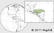 Savanna Style Location Map of Honduras, blank outside