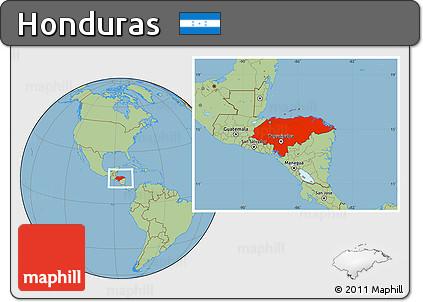 Free savanna style location map of honduras savanna style location map of honduras gumiabroncs Images