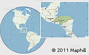 Savanna Style Location Map of Honduras, lighten, land only