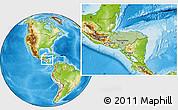 Savanna Style Location Map of Honduras, physical outside