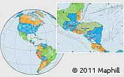 Savanna Style Location Map of Honduras, political outside