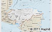 Classic Style Map of Honduras