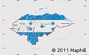 Flag Map of Honduras, flag centered