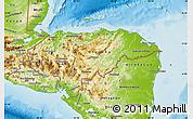 Physical Map of Honduras